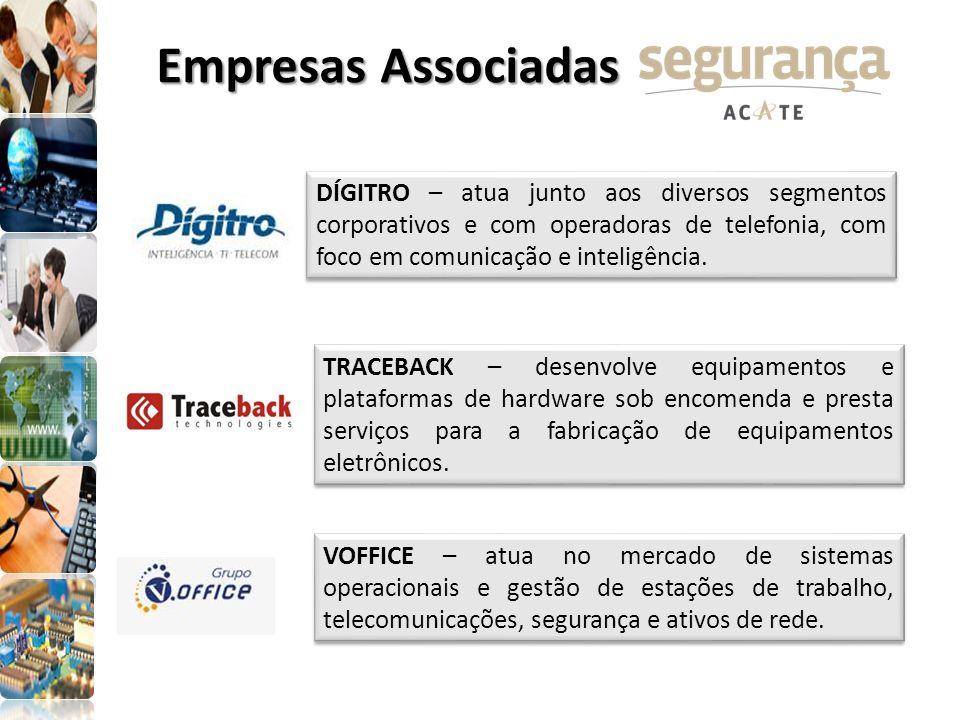 Empresas Associadas TRACEBACK – desenvolve equipamentos e plataformas de hardware sob encomenda e presta serviços para a fabricação de equipamentos el