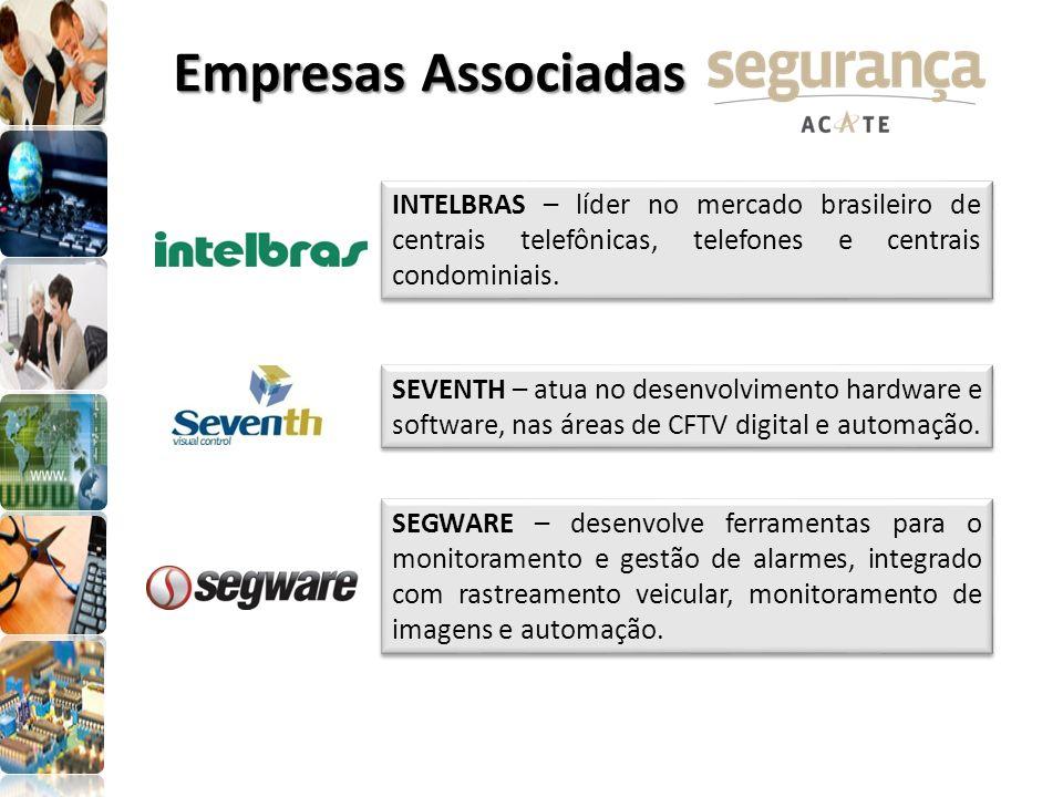 INTELBRAS – líder no mercado brasileiro de centrais telefônicas, telefones e centrais condominiais. SEVENTH – atua no desenvolvimento hardware e softw