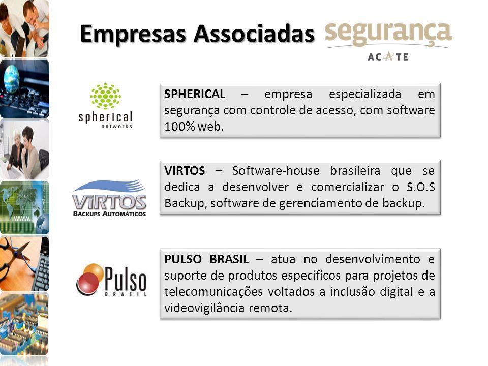 SPHERICAL – empresa especializada em segurança com controle de acesso, com software 100% web. VIRTOS – Software-house brasileira que se dedica a desen