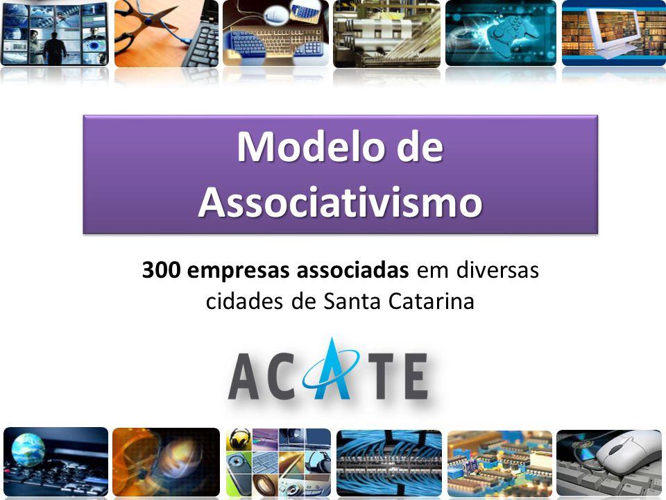 Modelo de Associativismo 300 empresas associadas em diversas cidades de Santa Catarina