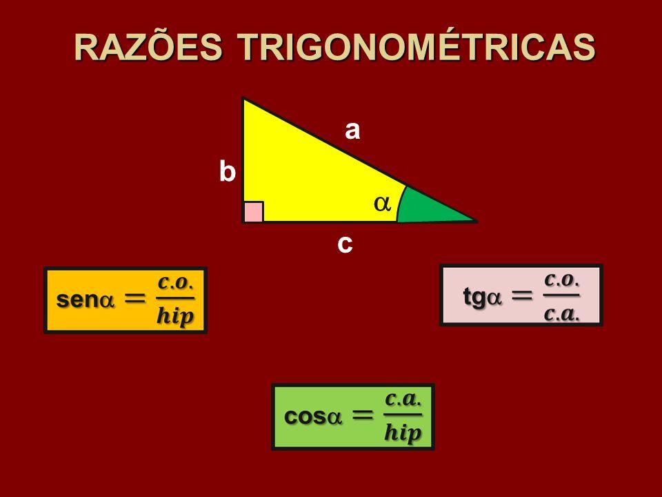 RAZÕES TRIGONOMÉTRICAS b c a