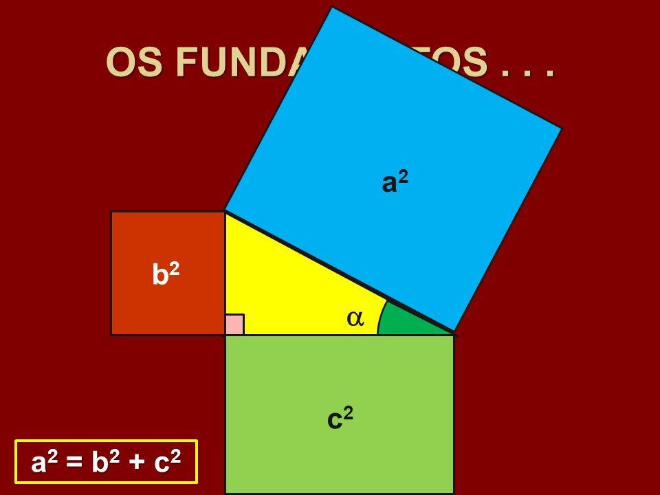 OS FUNDAMENTOS... c b a b2b2 c2c2 a2a2 a 2 = b 2 + c 2