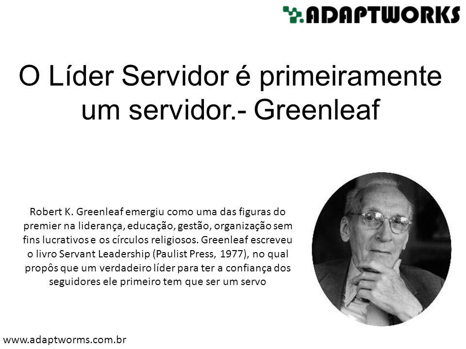 Robert K. Greenleaf emergiu como uma das figuras do premier na liderança, educação, gestão, organização sem fins lucrativos e os círculos religiosos.