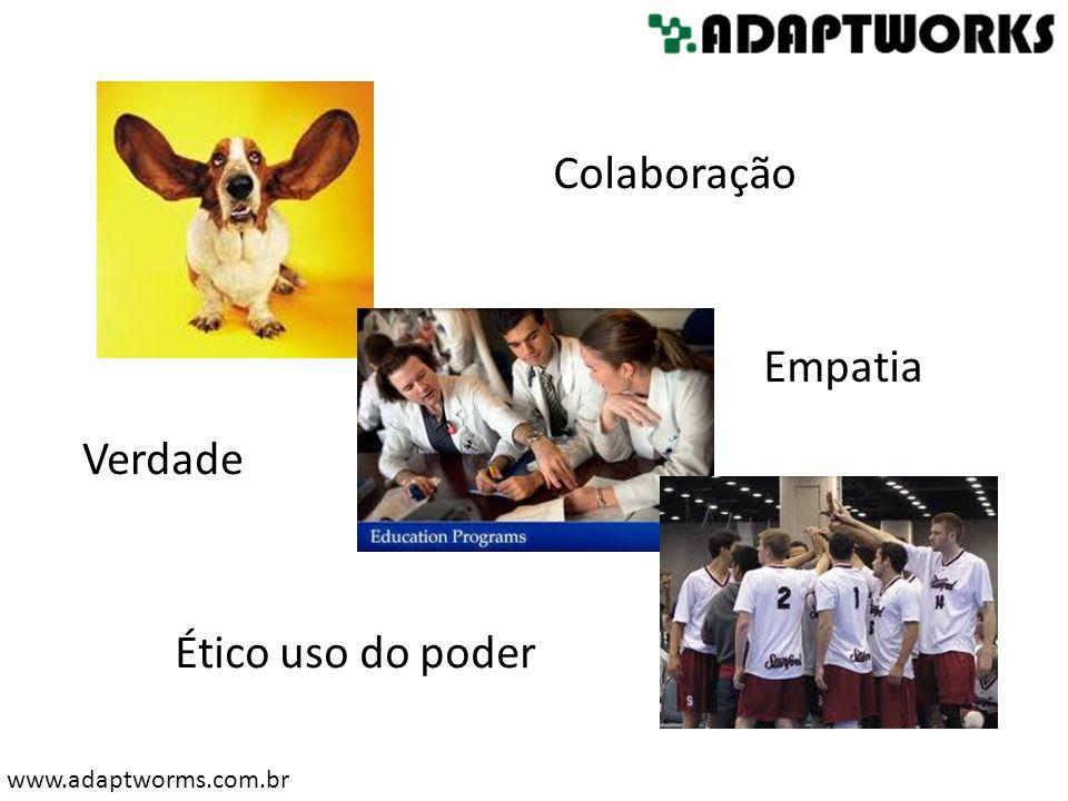 www.adaptworms.com.br Colaboração Verdade Empatia Ético uso do poder