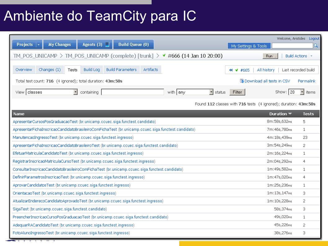 Ambiente do TeamCity para IC
