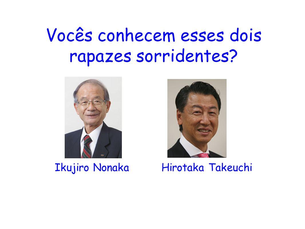 Vocês conhecem esses dois rapazes sorridentes? Ikujiro Nonaka Hirotaka Takeuchi