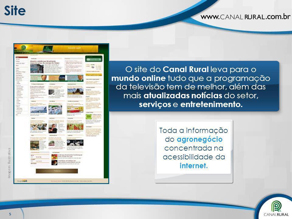 5 Site O site do Canal Rural leva para o mundo online tudo que a programação da televisão tem de melhor, além das mais atualizadas notícias do setor,