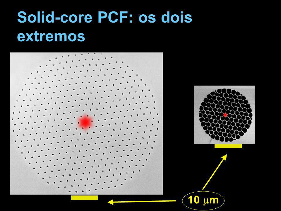 Solid-core PCF: os dois extremos 10 m