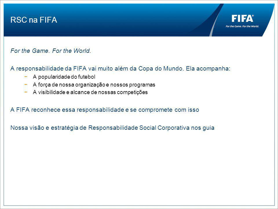 RSC na FIFA For the Game.For the World.