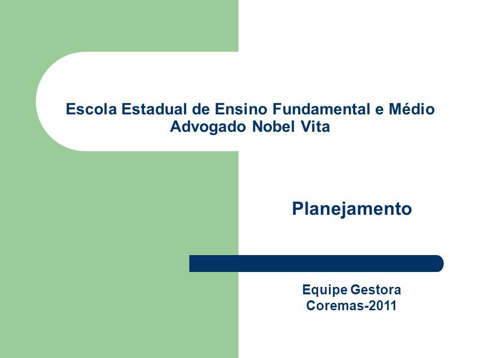 Escola Estadual de Ensino Fundamental e Médio Advogado Nobel Vita Planejamento Equipe Gestora Coremas-2011