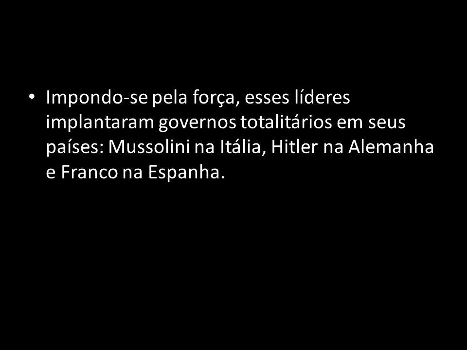 A implantação dc regimes totalitários na Europa A partir da década de 1920, em diversos países da Europa instalaram-se governos totalitários.