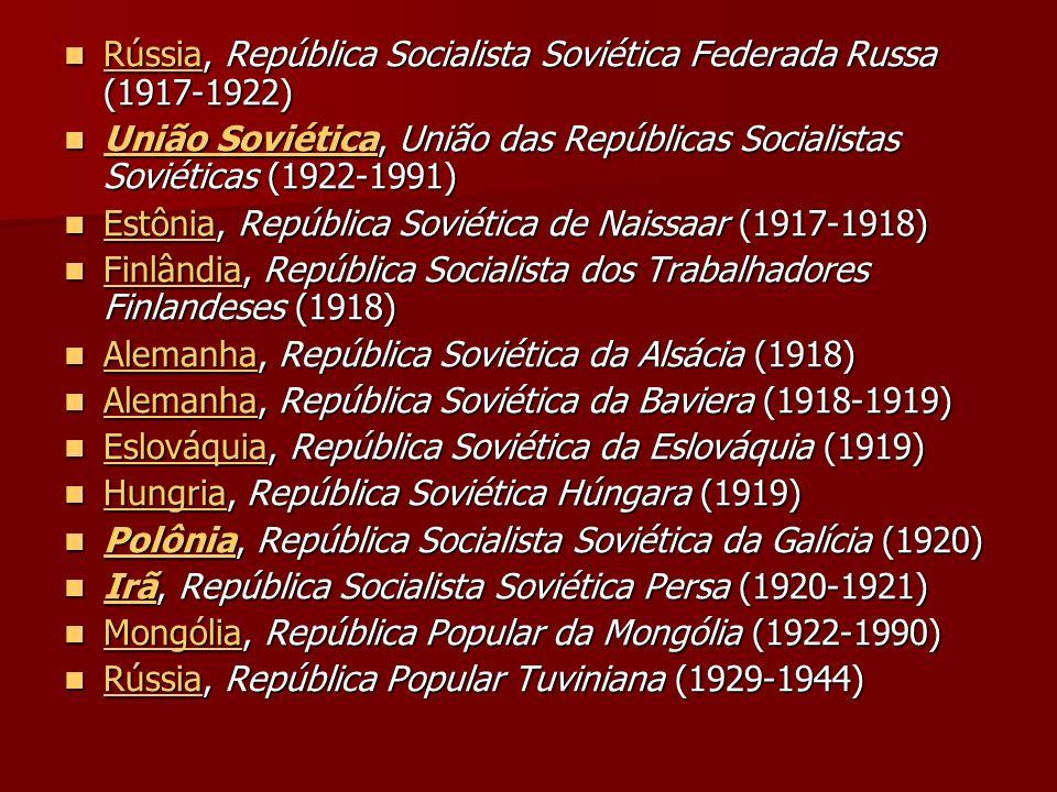 Rússia, República Socialista Soviética Federada Russa (1917-1922) Rússia, República Socialista Soviética Federada Russa (1917-1922) Rússia União Sovié