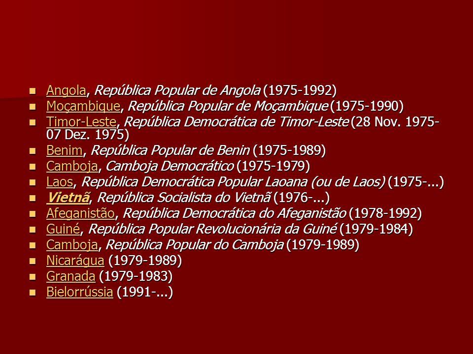 Angola, República Popular de Angola (1975-1992) Angola, República Popular de Angola (1975-1992) Angola Moçambique, República Popular de Moçambique (19