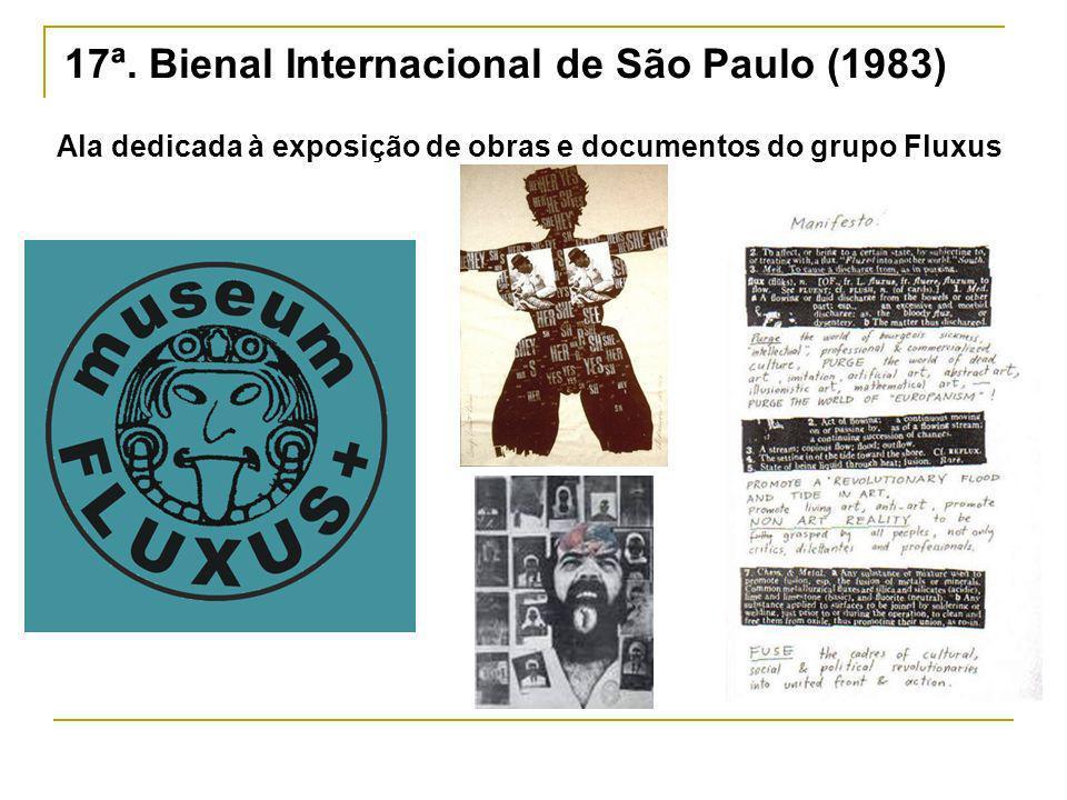 17ª. Bienal Internacional de São Paulo (1983) Ala dedicada à exposição de obras e documentos do grupo Fluxus