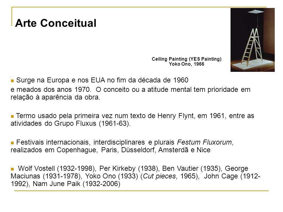Surge na Europa e nos EUA no fim da década de 1960 e meados dos anos 1970. O conceito ou a atitude mental tem prioridade em relação à aparência da obr