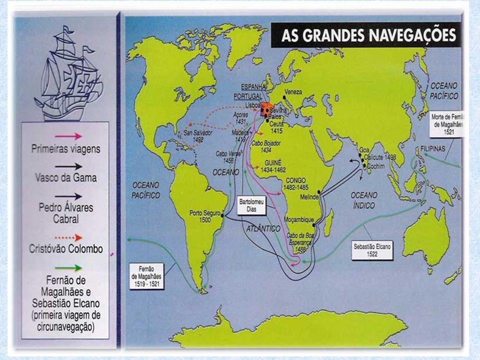 A Descoberta da América Em 1492 o navegador Genovês Cristóvão Colombo, financiado pela rainha Isabel de Castela, da Espanha, chega à América navegando para o Oeste.