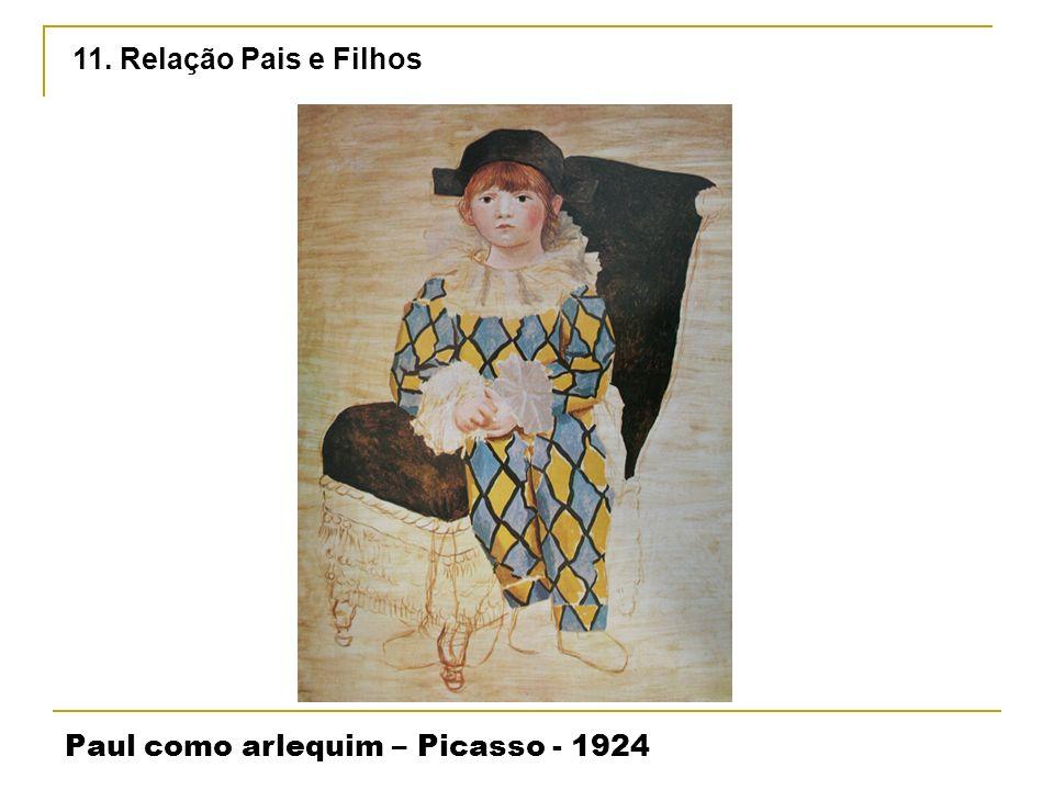 11. Relação Pais e Filhos Paul como arlequim – Picasso - 1924