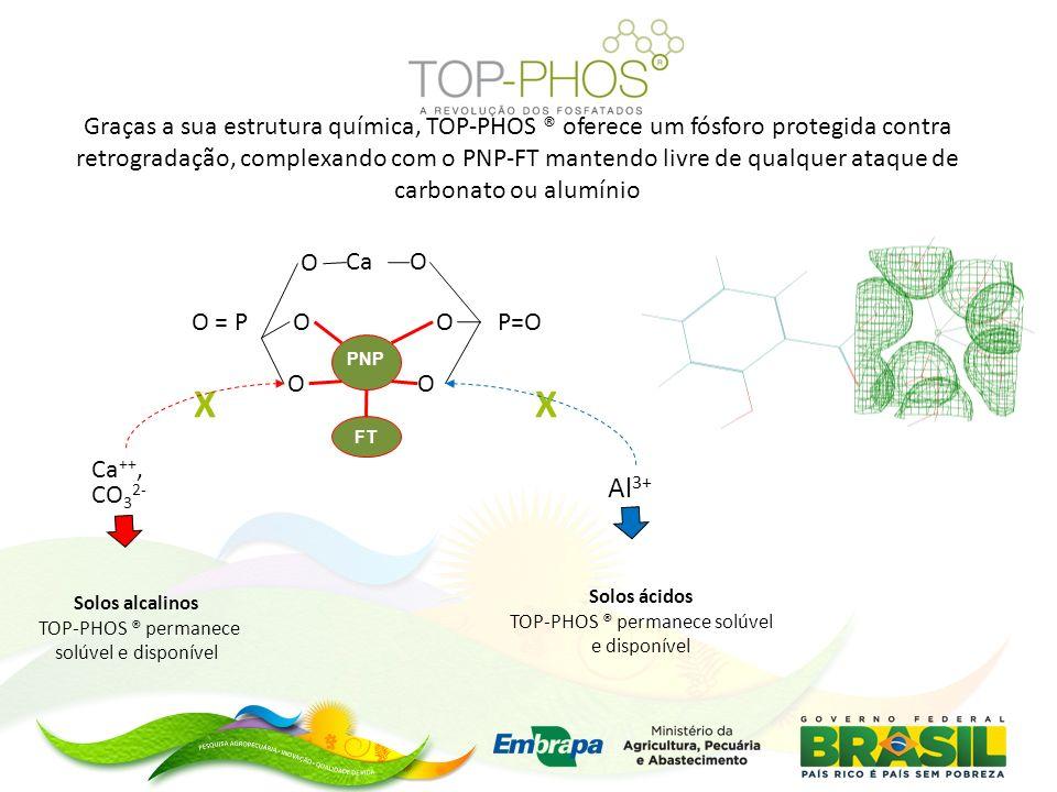 PNP FT P=O O OCa O = P O O OO Graças a sua estrutura química, TOP-PHOS ® oferece um fósforo protegida contra retrogradação, complexando com o PNP-FT m