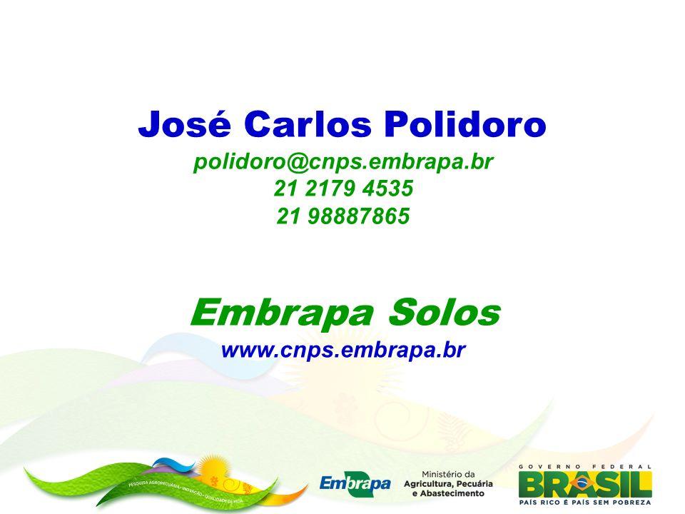 José Carlos Polidoro polidoro@cnps.embrapa.br 21 2179 4535 21 98887865 Embrapa Solos www.cnps.embrapa.br