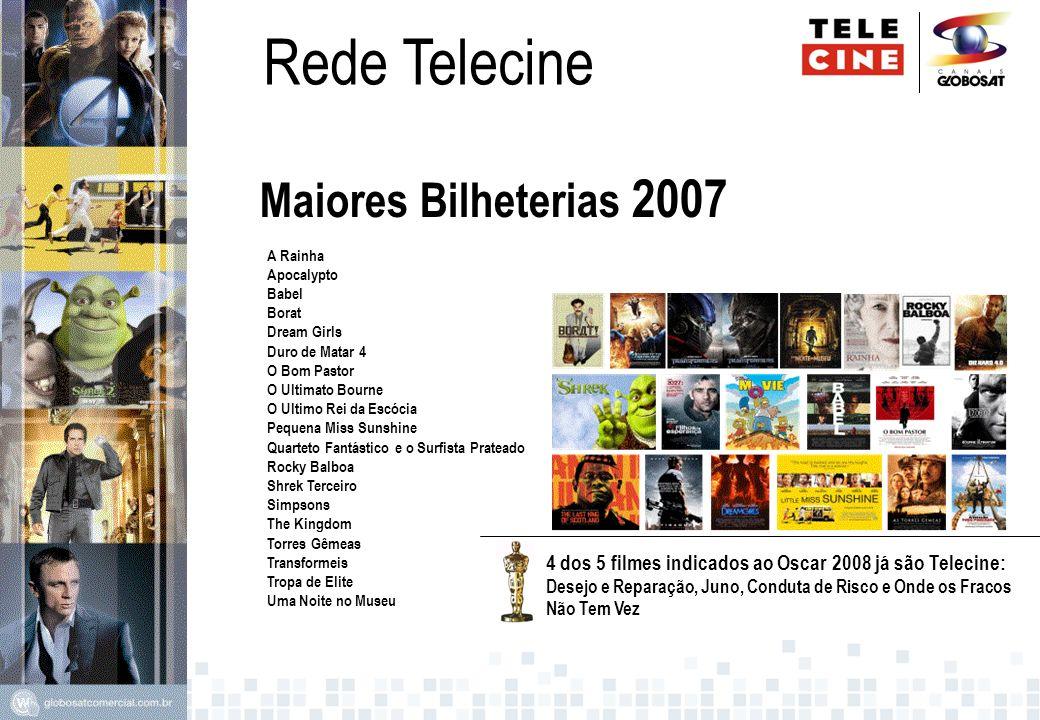 Rede Telecine Maiores Bilheterias 2007 A Rainha Apocalypto Babel Borat Dream Girls Duro de Matar 4 O Bom Pastor O Ultimato Bourne O Ultimo Rei da Escó