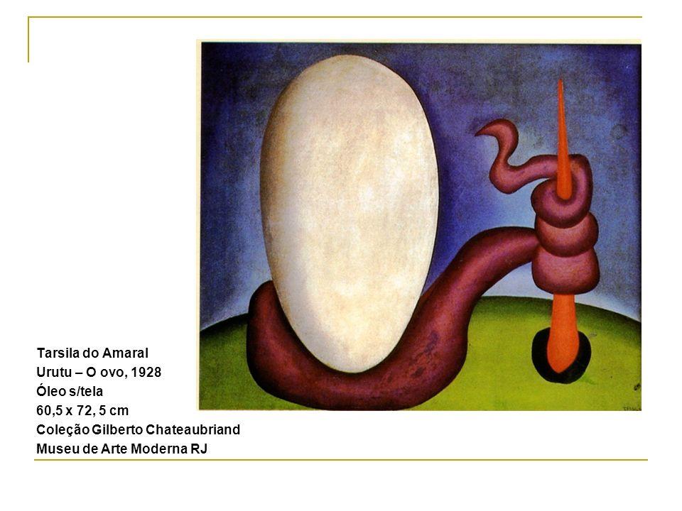 Tarsila do Amaral Urutu – O ovo, 1928 Óleo s/tela 60,5 x 72, 5 cm Coleção Gilberto Chateaubriand Museu de Arte Moderna RJ