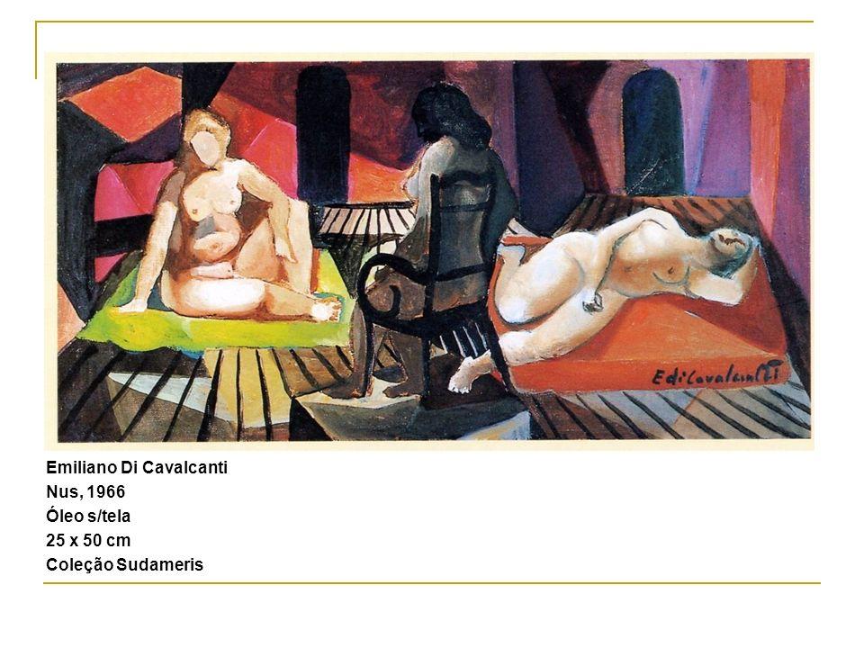 Emiliano Di Cavalcanti Nus, 1966 Óleo s/tela 25 x 50 cm Coleção Sudameris