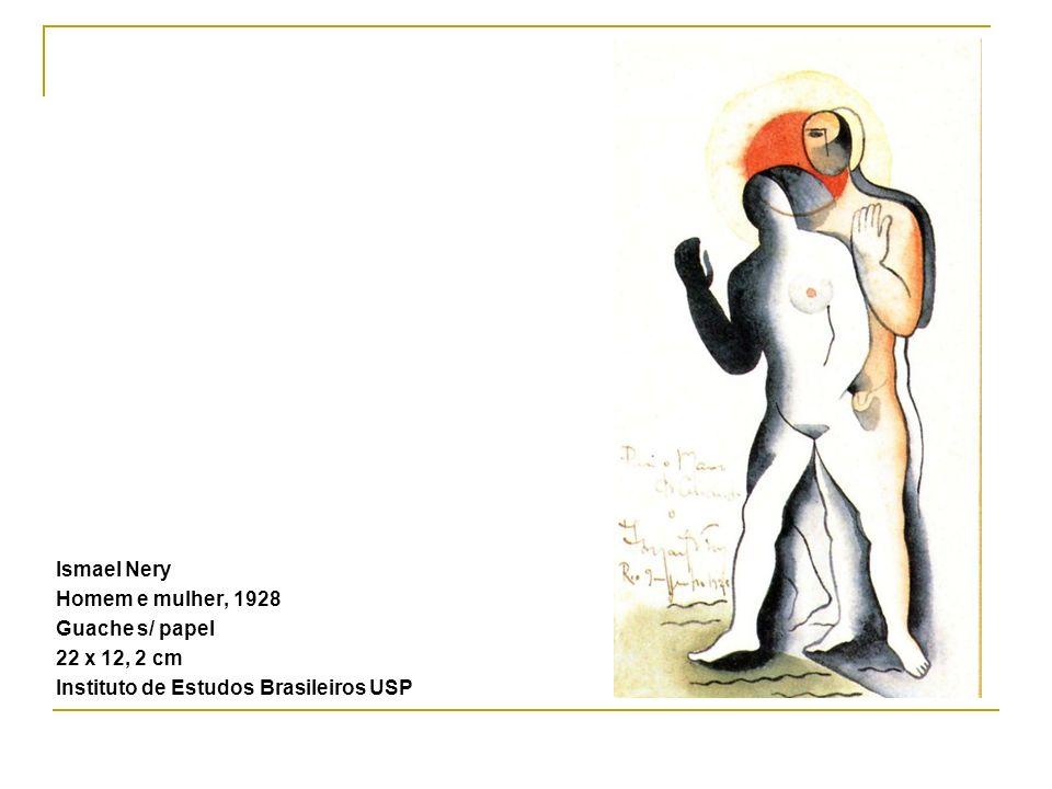 Ismael Nery Homem e mulher, 1928 Guache s/ papel 22 x 12, 2 cm Instituto de Estudos Brasileiros USP