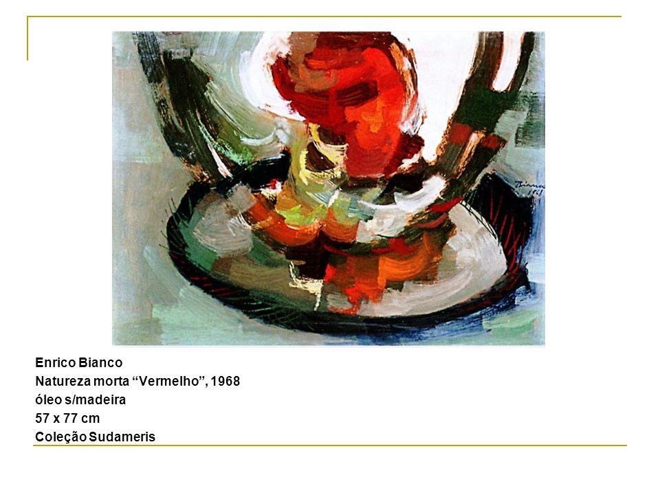 Enrico Bianco Natureza morta Vermelho, 1968 óleo s/madeira 57 x 77 cm Coleção Sudameris