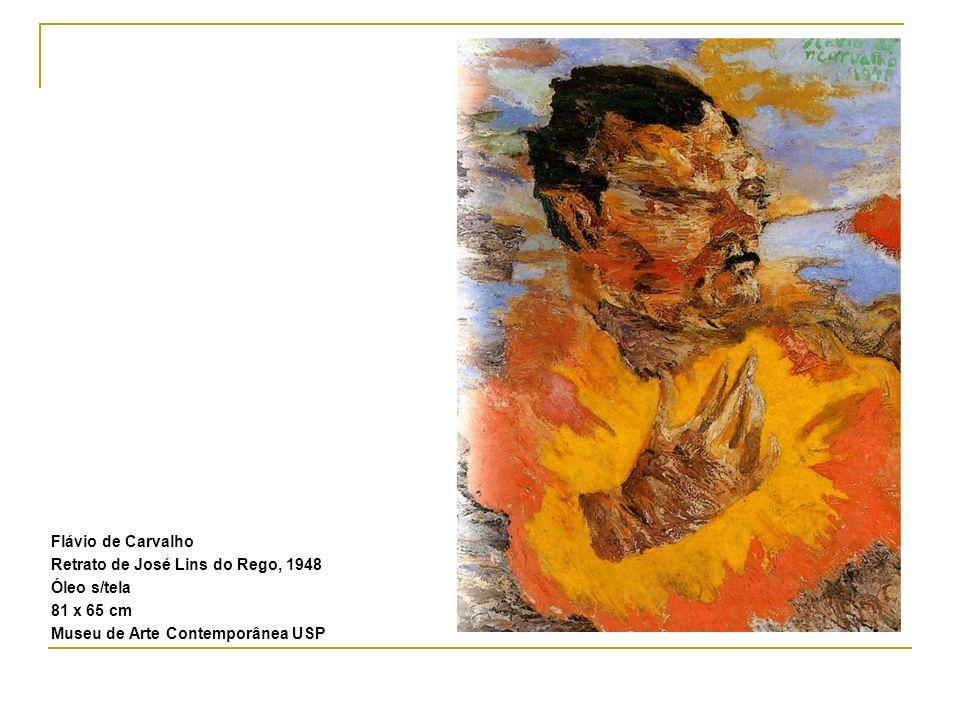 Flávio de Carvalho Retrato de José Lins do Rego, 1948 Óleo s/tela 81 x 65 cm Museu de Arte Contemporânea USP