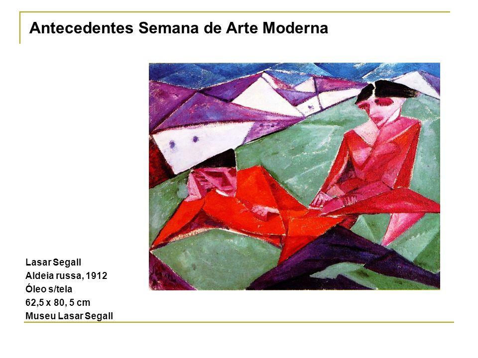 Lasar Segall Aldeia russa, 1912 Óleo s/tela 62,5 x 80, 5 cm Museu Lasar Segall Antecedentes Semana de Arte Moderna