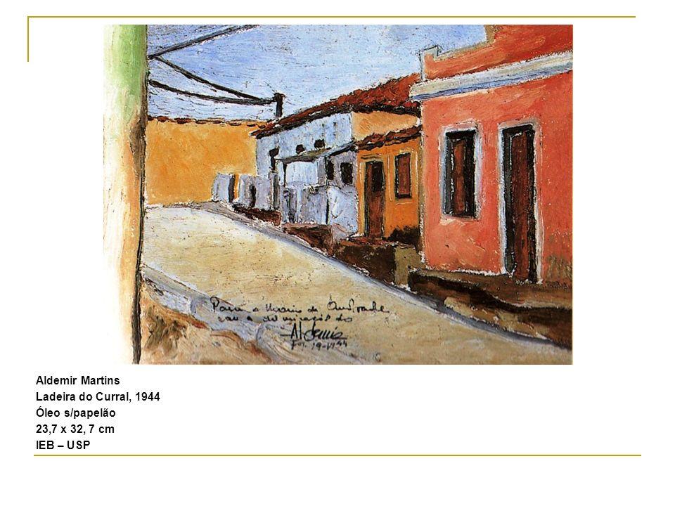 Aldemir Martins Ladeira do Curral, 1944 Óleo s/papelão 23,7 x 32, 7 cm IEB – USP