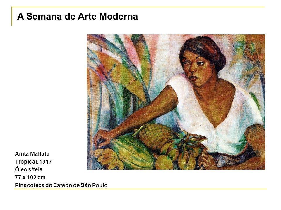 Anita Malfatti Tropical, 1917 Óleo s/tela 77 x 102 cm Pinacoteca do Estado de São Paulo A Semana de Arte Moderna