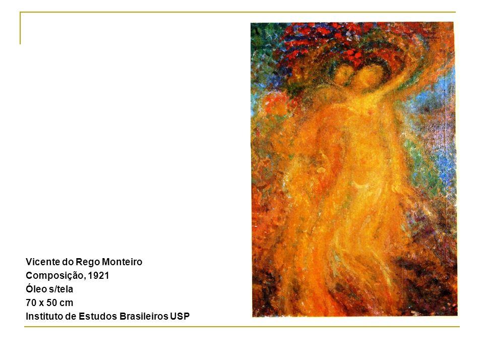 Vicente do Rego Monteiro Composição, 1921 Óleo s/tela 70 x 50 cm Instituto de Estudos Brasileiros USP