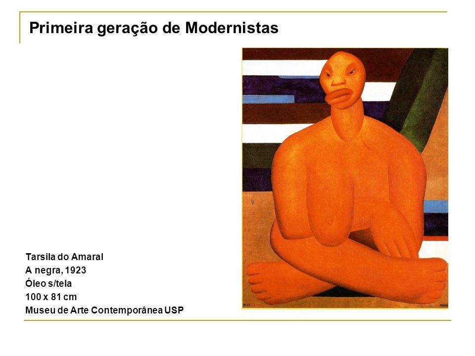 Tarsila do Amaral A negra, 1923 Óleo s/tela 100 x 81 cm Museu de Arte Contemporânea USP Primeira geração de Modernistas
