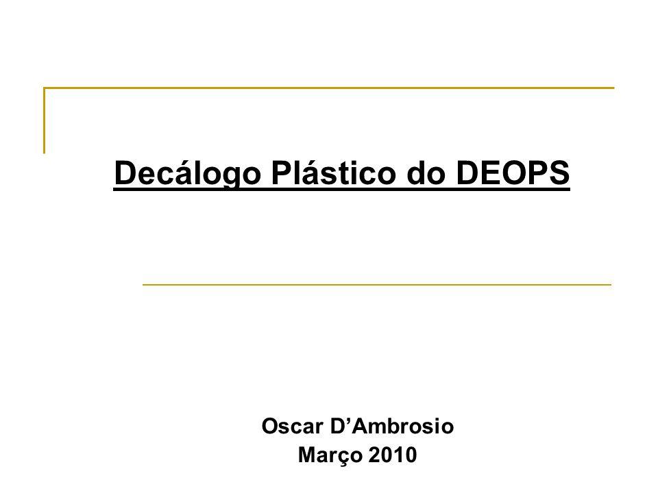 Decálogo Plástico do DEOPS Oscar DAmbrosio Março 2010
