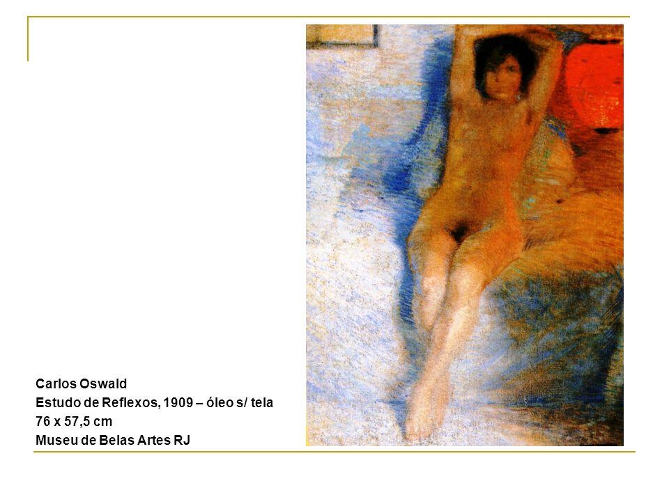 Carlos Oswald Estudo de Reflexos, 1909 – óleo s/ tela 76 x 57,5 cm Museu de Belas Artes RJ