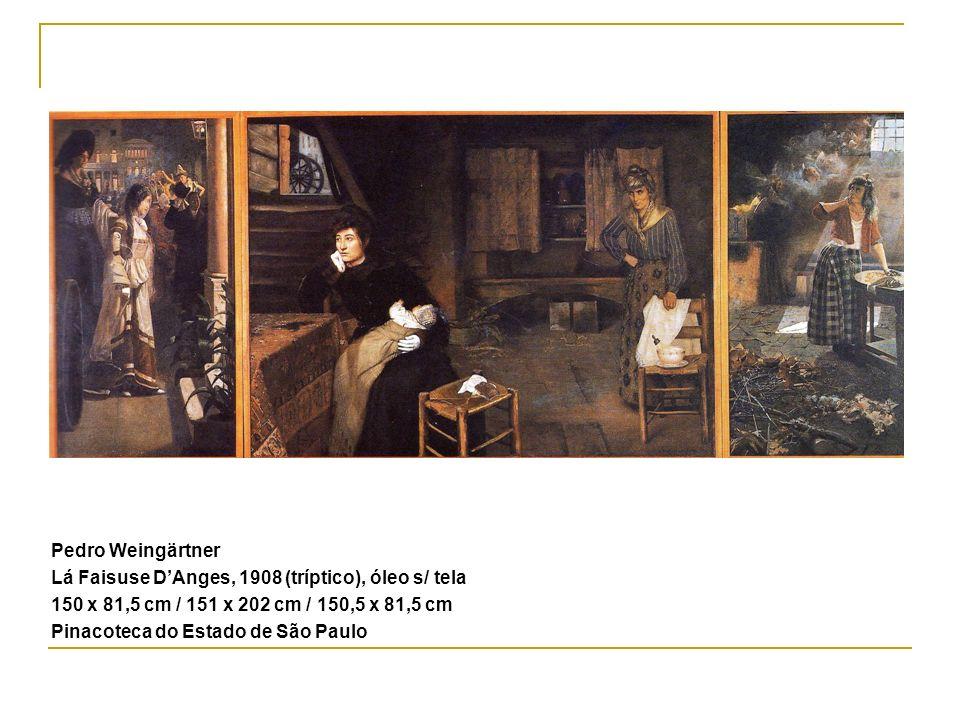 Pedro Weingärtner Lá Faisuse DAnges, 1908 (tríptico), óleo s/ tela 150 x 81,5 cm / 151 x 202 cm / 150,5 x 81,5 cm Pinacoteca do Estado de São Paulo