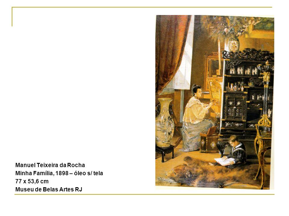 Manuel Teixeira da Rocha Minha Família, 1898 – óleo s/ tela 77 x 53,6 cm Museu de Belas Artes RJ