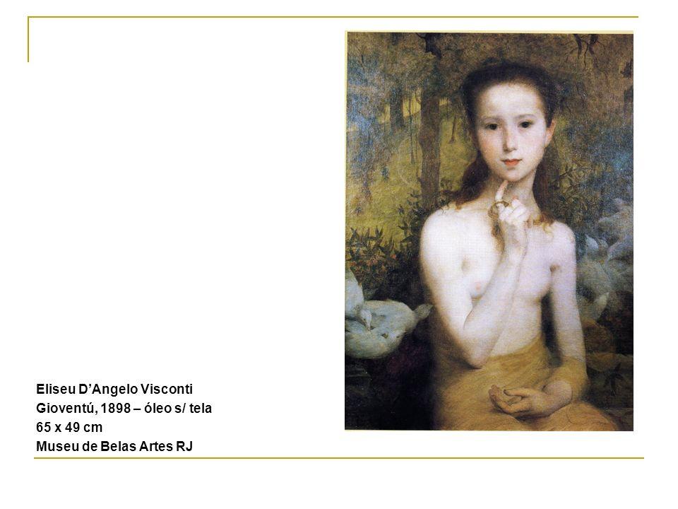 Eliseu DAngelo Visconti Gioventú, 1898 – óleo s/ tela 65 x 49 cm Museu de Belas Artes RJ