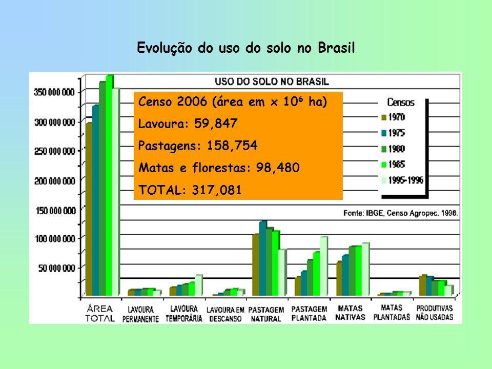 Uso atual do solo no Brasil