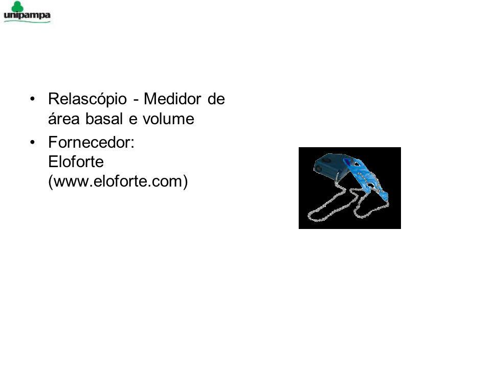 Relascópio - Medidor de área basal e volume Fornecedor: Eloforte (www.eloforte.com)