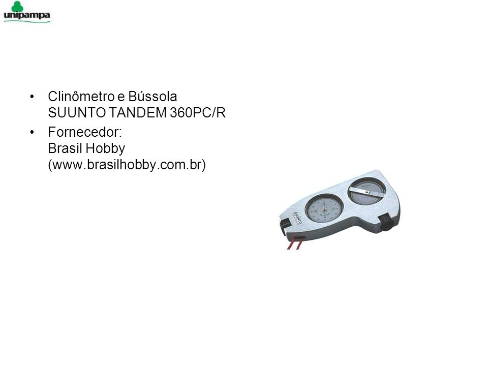 Clinômetro e Bússola SUUNTO TANDEM 360PC/R Fornecedor: Brasil Hobby (www.brasilhobby.com.br)