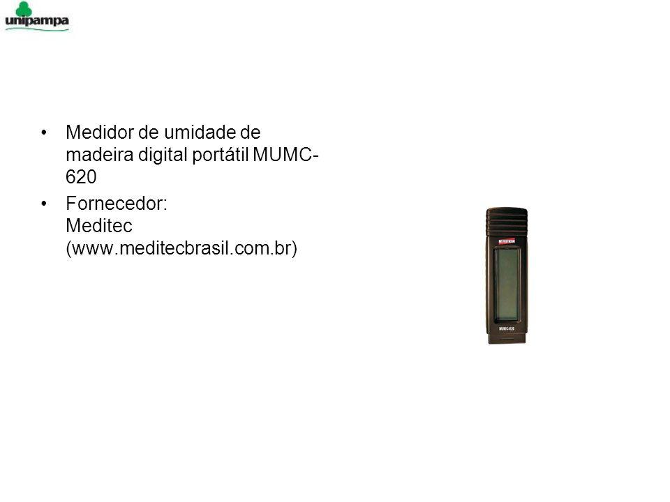 Medidor de umidade de madeira digital portátil MUMC- 620 Fornecedor: Meditec (www.meditecbrasil.com.br)