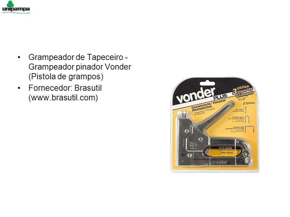 Grampeador de Tapeceiro - Grampeador pinador Vonder (Pistola de grampos) Fornecedor: Brasutil (www.brasutil.com)