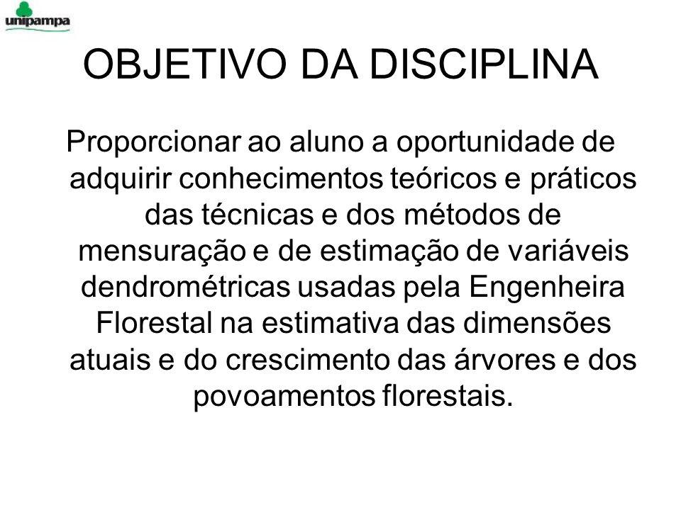 BIBLIOGRAFIA CAMPOS, J.C.C.& LEITE, H.G. Mensuração florestal – perguntas e respostas.