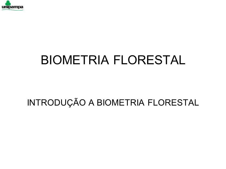 BIOMETRIA FLORESTAL INTRODUÇÃO A BIOMETRIA FLORESTAL