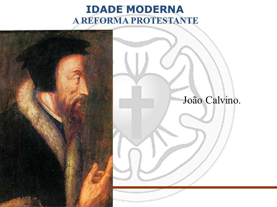 IDADE MODERNA A REFORMA PROTESTANTE João Calvino.