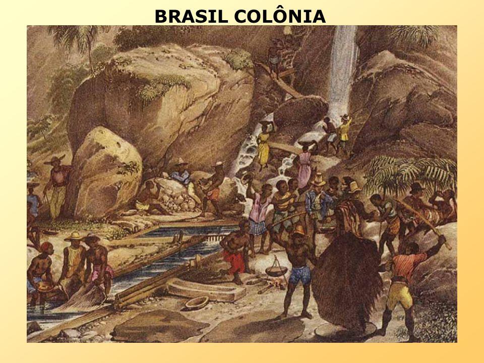 BRASIL COLÔNIA SÉCULO DO OURO E EXPANSÃO TERRITORIAL (XVIII) –Aumento do escravismo.