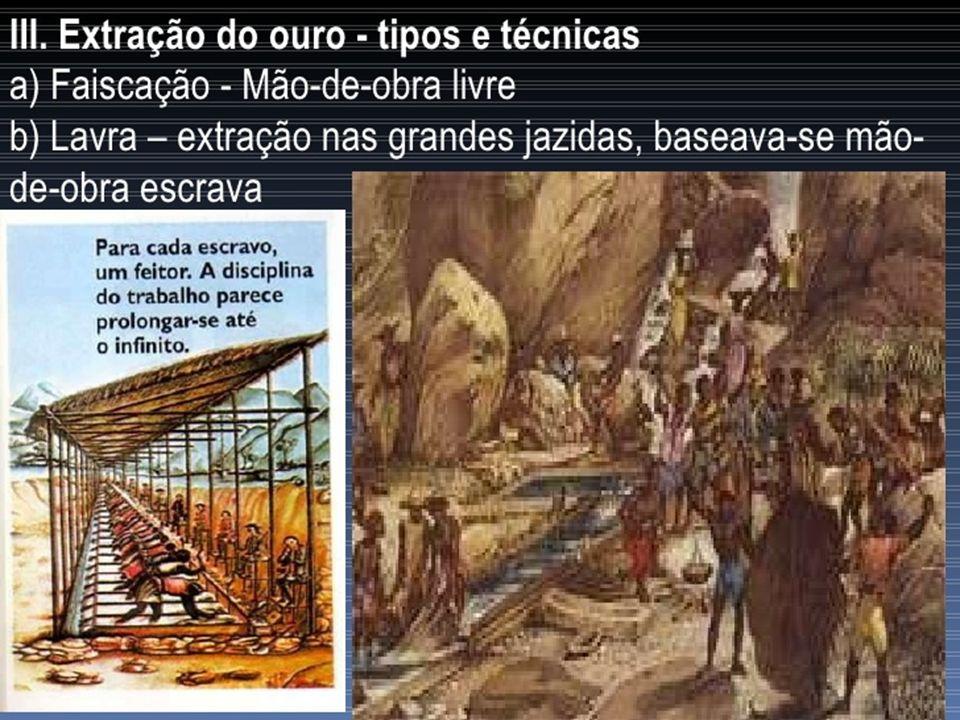 BRASIL COLÔNIA SÉCULO DO OURO E EXPANSÃO TERRITORIAL (XVIII) –A administração aurífera: –Intendência das Minas (1702) – órgão criado por Portugal para administrar a região das minas.