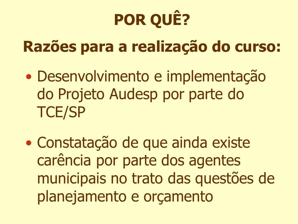 Êxito do Projeto Audesp depende da qualificação técnica dos servidores municipais envolvidos O TCE procurou uma solução de capacitação dos servidores nos municípios POR QUÊ.